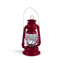 Large Red Indoor/Outdoor Hurricane Lantern with Dimmer Switch - 2 Lanterns