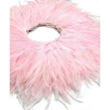 pink ostrich fringe