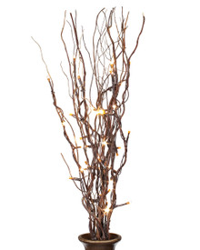 20 Inch Battery Operated Natural Willow Branches with Timer, Convertible - 6 Pieces