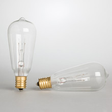 ST40 Replacement Bulbs, 7 Watt Clear - 48 Pieces