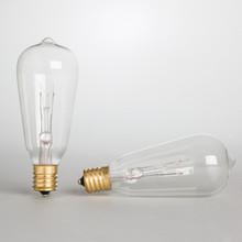 ST40 Replacement Bulbs, 7 Watt Clear - 48 Pieces