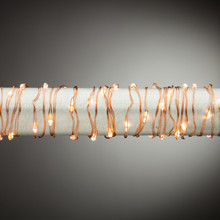 10ft Indoor/Outdoor Warm White Micro LED Battery Light String with Timer, Copper Wire - 6 Sets