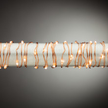 20ft Indoor/Outdoor Warm White Micro LED Battery Light String with Timer, Copper Wire - 6 Sets