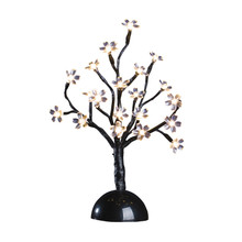 12 Inch Warm White Battery Operated Lighted Mini-Blossom Tree - 12 Trees