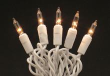 Case of 12 Minilight String Lights Clear On White - 21ft, 50 light