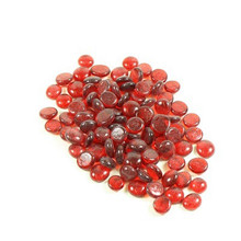 12 Bags, Flat Red Marbles - 2 lb/bag