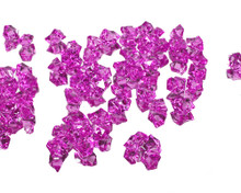 10 Bags, Acrylic Crystal Rock Fillers, Fuchsia (approx 150 pcs per bag)