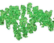 10 Bags, Acrylic Crystal Rock Fillers, Green (approx 150 pcs per bag)