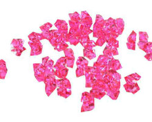 24 Bags, Acrylic Crystal Rock Fillers, Hot Pink