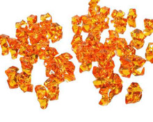 10 Bags, Acrylic Crystal Rock Fillers, Orange (approx 150 pcs per bag)