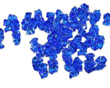 10 Bags, Acrylic Crystal Rock Fillers, Royal Blue (approx 150 pcs per bag)