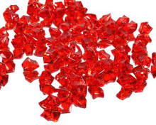 10 Bags, Acrylic Crystal Rock Fillers, Red (approx 150 pcs per bag)