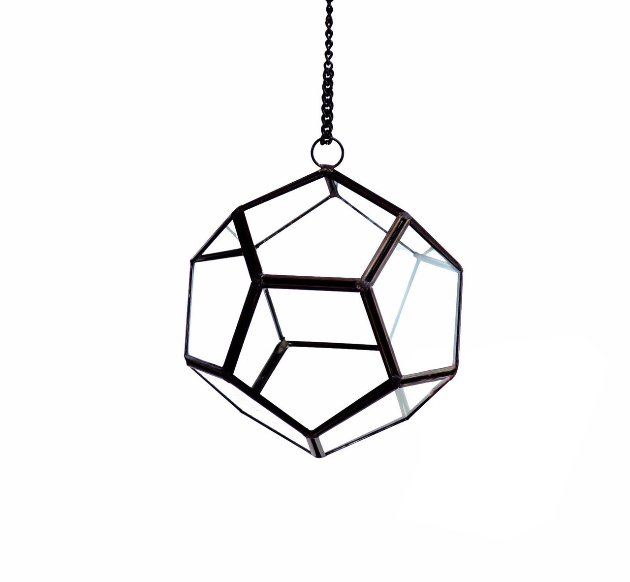 Small Gold Prism Geometric Glass Terrarium Dodecahedron 12 Pieces Eventswholesale Com