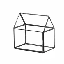 Black House Geometric Glass Terrarium - 8 Pieces