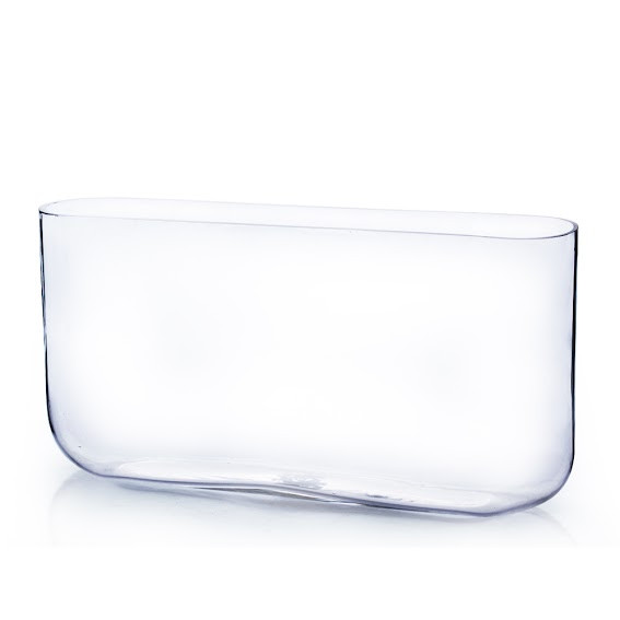 3 X 16 Clear Round Rectangular Glass Vase 4 Pieces Events