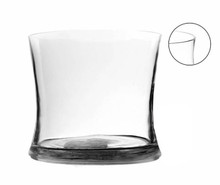 "5.7"" x 5"" Clear Concaved Style Vase - 12 Pieces"