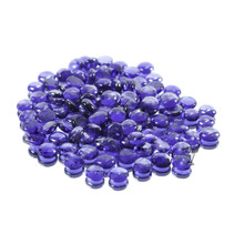 12 Bags, Royal Blue Flat Marbles - 2 lb/bag