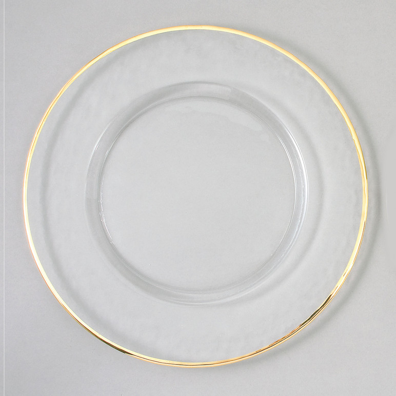 Case Of 4 Gold Rim 13 Quot Round Charger Plates