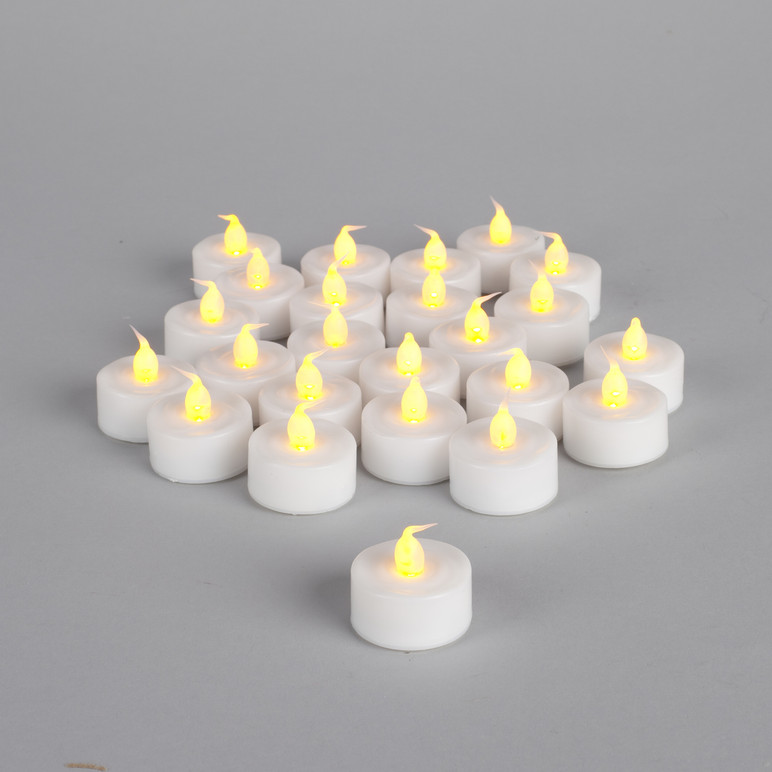 Soft Wick Flickering Led Tea Lights With Timer 1 5 Quot D X 1