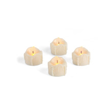 Bisque Wavy Heavy Drip Flame LED Tea Lights - 44 Pieces