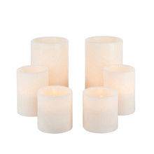 Wax Flameless LED Candle Set with Timer, 3 Inch Diameter, 1000 Hours - 2 Sets of 6 (12 candles total)