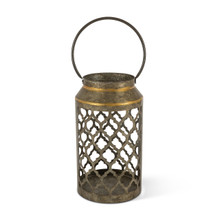 Large Galvanized Ogee Design Indoor/Outdoor Lantern - 2 Lanterns