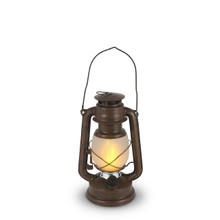 Small Rustic Brown Indoor/Outdoor FireGlow Hurricane Lantern with Dimmer Switch - 4 Lanterns