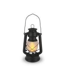 Small Matte Black Indoor/Outdoor FireGlow Hurricane Lantern with Dimmer Switch - 4 Lanterns