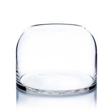 Clear Dome Shape Terrarium Bowl Glass Vase, 7 Inches High - 4 Pieces