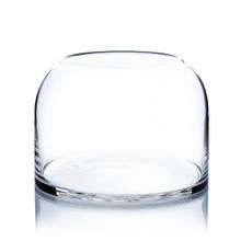 Clear Dome Shape Terrarium Bowl Glass Vase, 7 Inches High - 4 Pieces