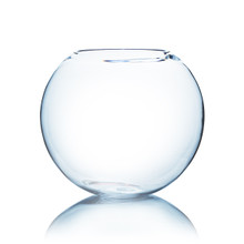 "16"" x 14"" Clear Round Bubble Bowl Vase"