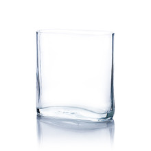 "3"" x 7"" x 8"" Clear Round Rectangular Vase - 12 Pieces"