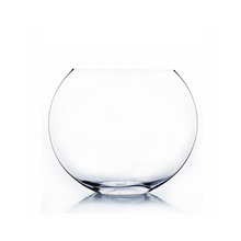 8 Inch Clear Moon Bowl Vase - 6 Pieces