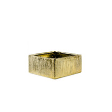 "6.25"" x 4"" Gold Low Square Block - 12 Pieces"