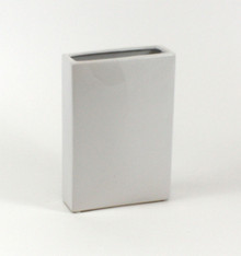 "8"" x 2.5"" x 10"" White Tall Flat Rectangle - 6 Pieces"