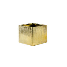 5 Inch Gold Square Cube - 12 Pieces