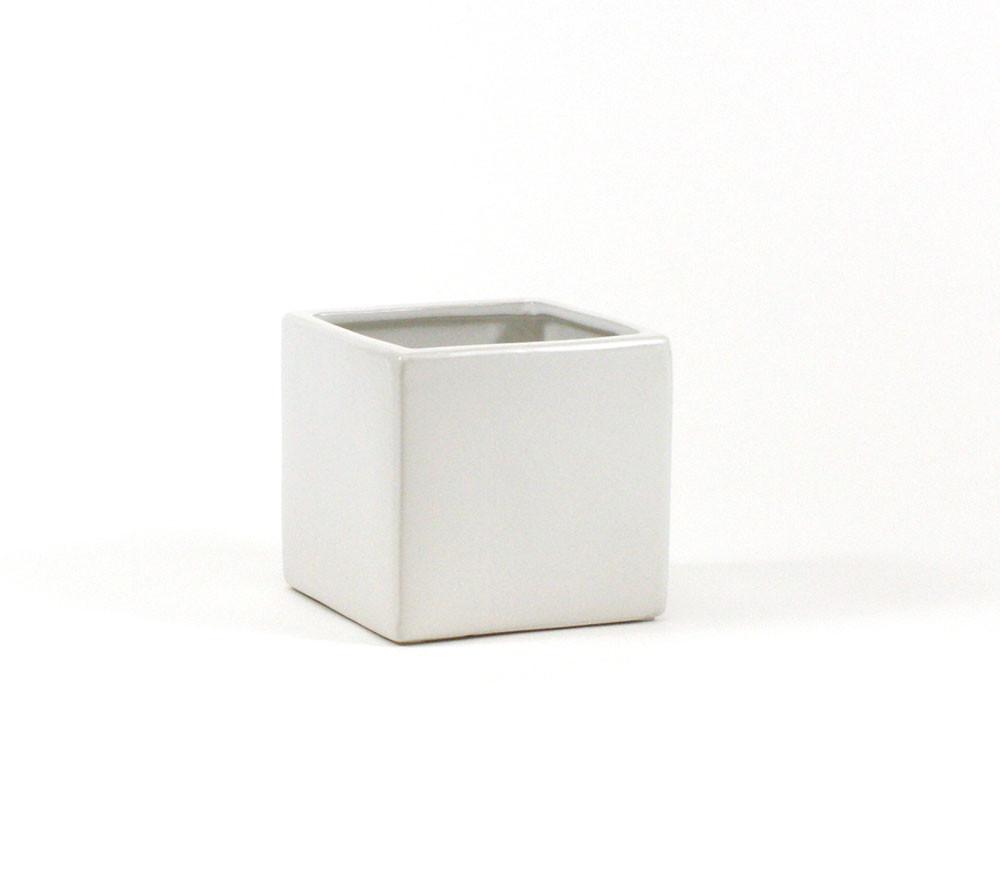 5 Inch White Square Cube 12 Pieces Eventswholesale Com