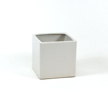 6 Inch White Square Cube - 12 Pieces
