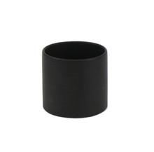 "3.75"" x 4"" Black Cylinder Ceramic - 24 Pieces"