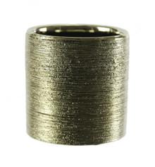 "3.75"" x 4"" Gold Cylinder Ceramic - 24 pieces"