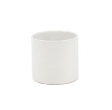 "3.75"" x 4"" White Cylinder Ceramic - 24 Pieces"