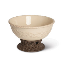 12 Inch Acanthus Bowl with Pedestal by GG Collection