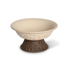 9.5 Inch Acanthus Bowl with Pedestal by GG Collection