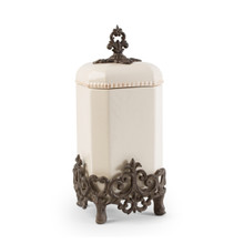 """Large Provencial Canister with Metal Base by GG Collection, 16""""H"""