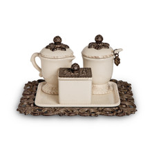 GG Collection Acanthus Leaf Coffee Creamer/Sugar Container Set