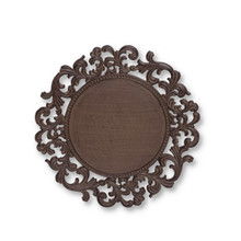 14 Inch Acanthus Metal Charger Plates by GG Collection - Set of 4