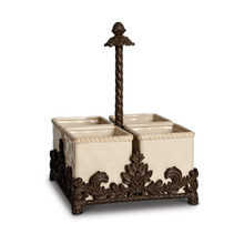 GG Collection Ceramic Flatware Caddy