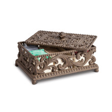 "GG Collection Acanthus Leaf Tea Box, 12.75""L x 8""W x 3.5""H"