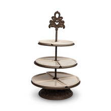 "Baroque 3-Tier Server by GG Collection, 26.3""H"