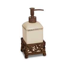 Cream Acanthus Leaf Single Soap Dispenser by GG Collection